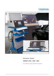 Emission Tester EMMA 430 / 440 / 460 - Aftersales Magazine