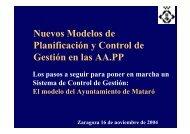 Nuevos Modelos de Planificación y Control de Gestión en las AA.PP