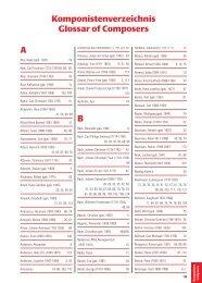 A B Komponistenverzeichnis Glossar of Composers