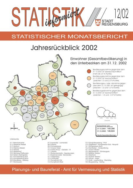 Jahresrückblick 2002 (12/02) - Statistik.regensburg.de - Stadt ...