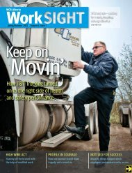 WORKSIGHT Spring/Summer 2012 - Workers' Compensation Board