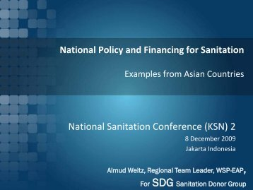 National Policy and Financing for Sanitation - Sanitation Updates