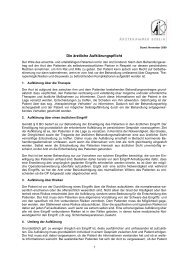 Merkblatt Aufklärungspflicht