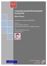 A szakképzési rendszer átalakulása - Zskf.hu