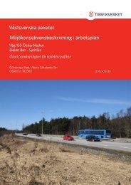 Västsvenska paketet Miljökonsekvensbeskrivning i arbetsplan