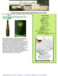 2010er Weingut Ankermühle Hase Riesling trocken QbA - Genuss7.de
