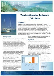 Tourism Operator Emissions Calculator - Great Barrier Reef Marine ...
