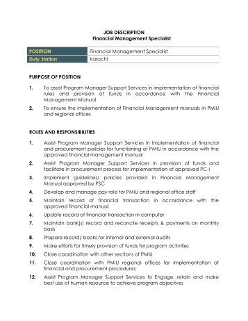 job description questionnaire for management positions