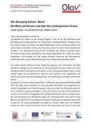 Beruf – ein Blick auf Hessen und über die Landesgrenzen ... - OloV