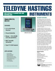 HFM-210 / HFC-212 - Chell Instruments Limited