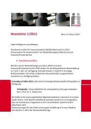 Newsletter 1/2012 - Berner Institut für Hausarztmedizin BIHAM ...