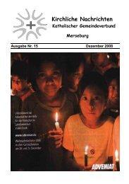 Ausgabe Nr. 15, Dezember 2008 ( PDF -Datei, 413 kB) - Katholische ...