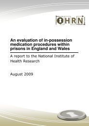 An evaluation of in-possession medication procedures within ...