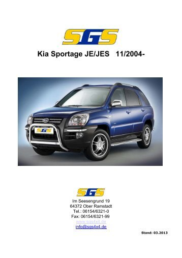 Sportage Typ JE/JES ab Bj. 2004 - SGS