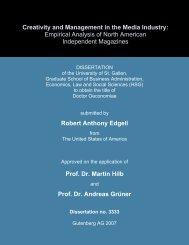 Robert Anthony Edgell Prof. Dr. Martin Hilb Prof. Dr. Andreas Grüner ...