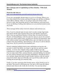 Josh Metnick Interview Transcript in PDF Format - DomainSherpa