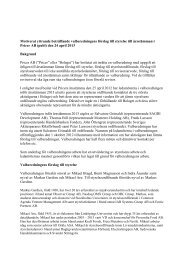 Valberedningens yttrande 2013 - Pricer