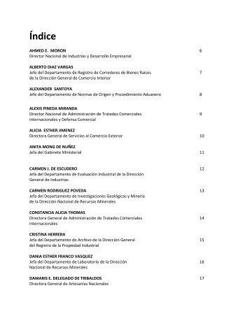 Personal Directivo y Mandos Medios - Ministerio de Comercio e ...