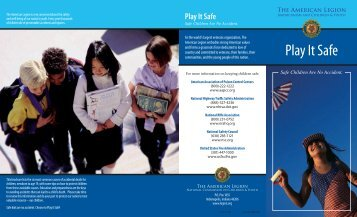 Play It Safe Brochure - American Legion