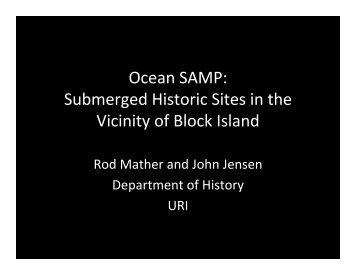 Ocean SAMP - Rhode Island Sea Grant