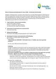 Referat af Repræsentantskabsmøde 25 - Friluftsrådet