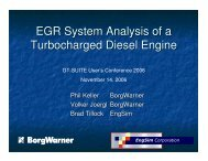 EGR System Analysis of a Turbocharged Diesel Engine