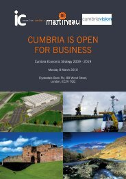 CUMBRIA IS OPEN FOR BUSINESS
