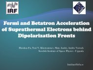 Fermi and Betatron Acceleration of Suprathermal ... - Space.irfu.se