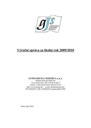 Výroční zpráva o činnosti školy, šk. r. 2009/10 (*.pdf) - Gymnázium ...