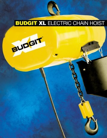budgit® xl electric chain hoist - Columbus McKinnon Corporation