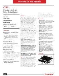 CPHI High Intensity Quartz Faced Radiant Heater Data Sheet