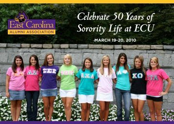 Celebrate 50 Years of Sorority Life at ECU - PirateAlumni.com