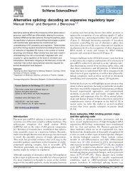 Alternative splicing: decoding an expansive regulatory layer