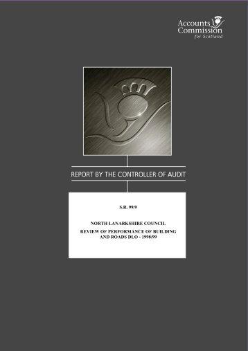 North Lanarkshire Council - S.R. 99/9 (PDF | 108 KB) - Audit Scotland