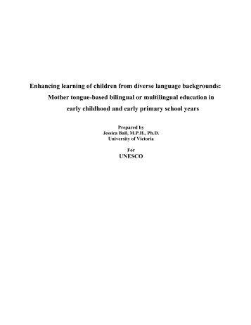 UNESCO Mother-tongue.. - Early Childhood Development ...