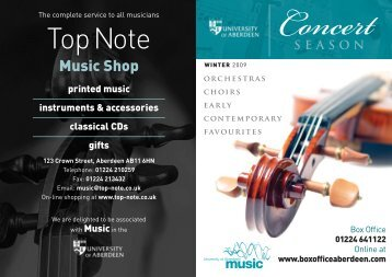 Concertseason - University of Aberdeen