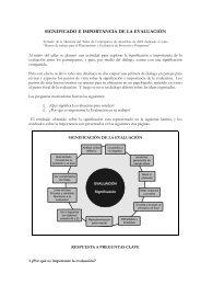 SIGNIFICADO E IMPORTANCIA DE LA EVALUACIÓN - Condesan