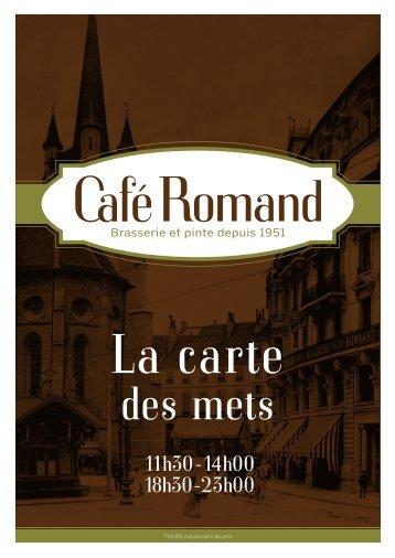 11h30 -14h00 18h30 -23h00 - Café Romand