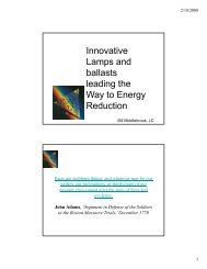 Innovative Lamps and ballasts leading the Way to Energy Reduction