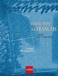 Rédaction en français - Comptabilité - Corrigé - sofad