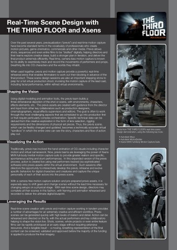 Real-Time Scene Design leaflet - Xsens