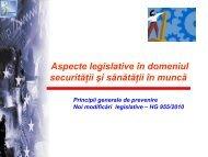 Aspecte legislative în domeniul securităţii şi sănătăţii în ... - ITM Sibiu