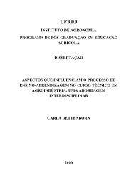 Dissertação Carla Dettenborn - Instituto de Agronomia - UFRRJ