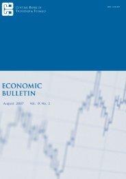 August 2007 Vol. IX No. 2 - Central Bank of Trinidad and Tobago