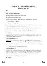 DA Database for Vaskemiddelingredienser