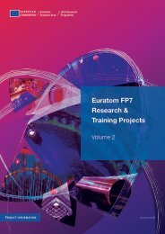 Euratom FP7 Research & Training Projects - ENEN Association