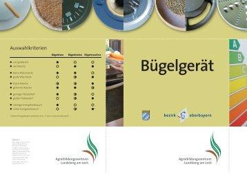 Bügelgerät - Agrarbildungszentrum Landsberg am Lech