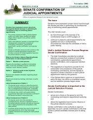 Senate Confirmation of Judicial Appointments - Utah State Legislature