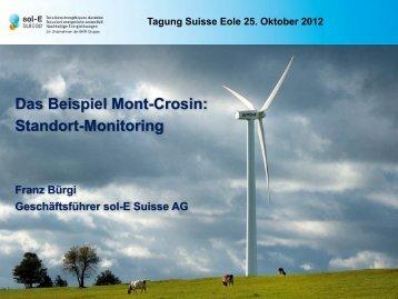 Offenheit und gegenseitiger Respekt Vorprojekt ... - Suisse-Eole