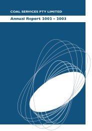 Coal Services Annual Report 2002
